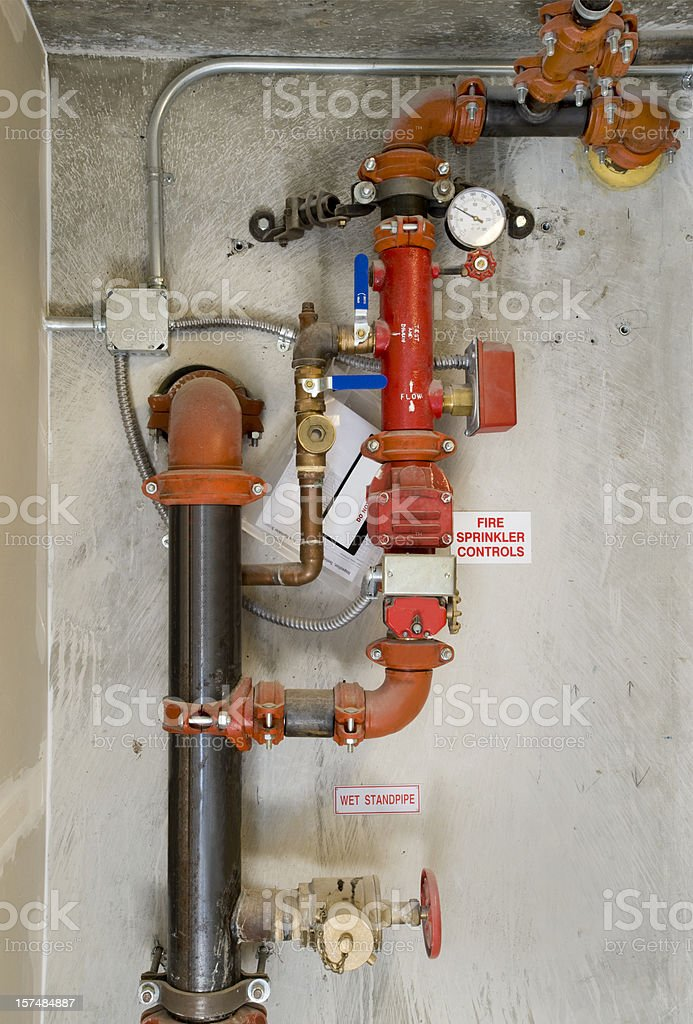 Fire Sprinkler Control System stock photo