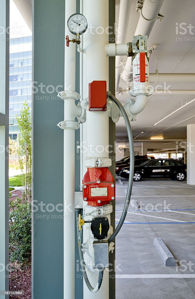 Fire Sprinkler Controls stock photo