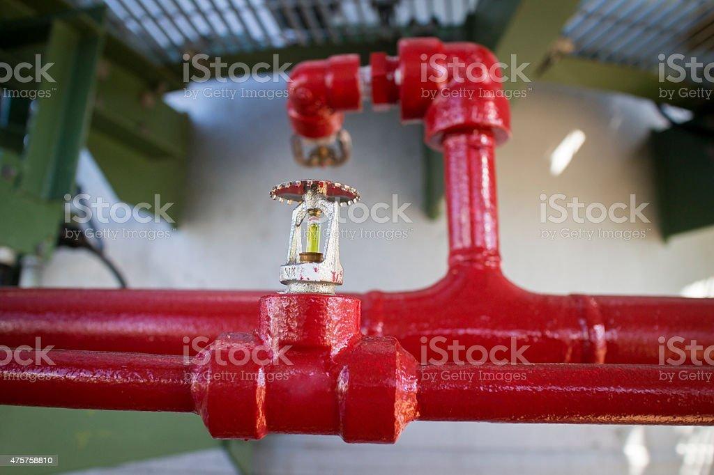 Fire sprinkler stock photo
