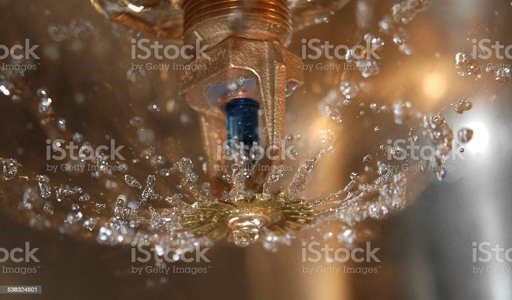 Fire sprinkler. stock photo