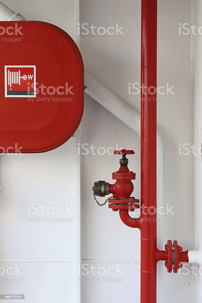 Fire Sprinkler Valve stock photo