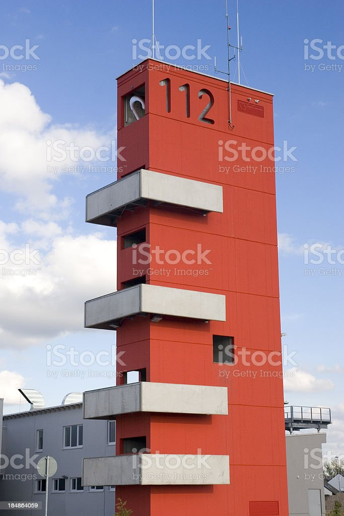 Fire Station Emergency Tower stock photo