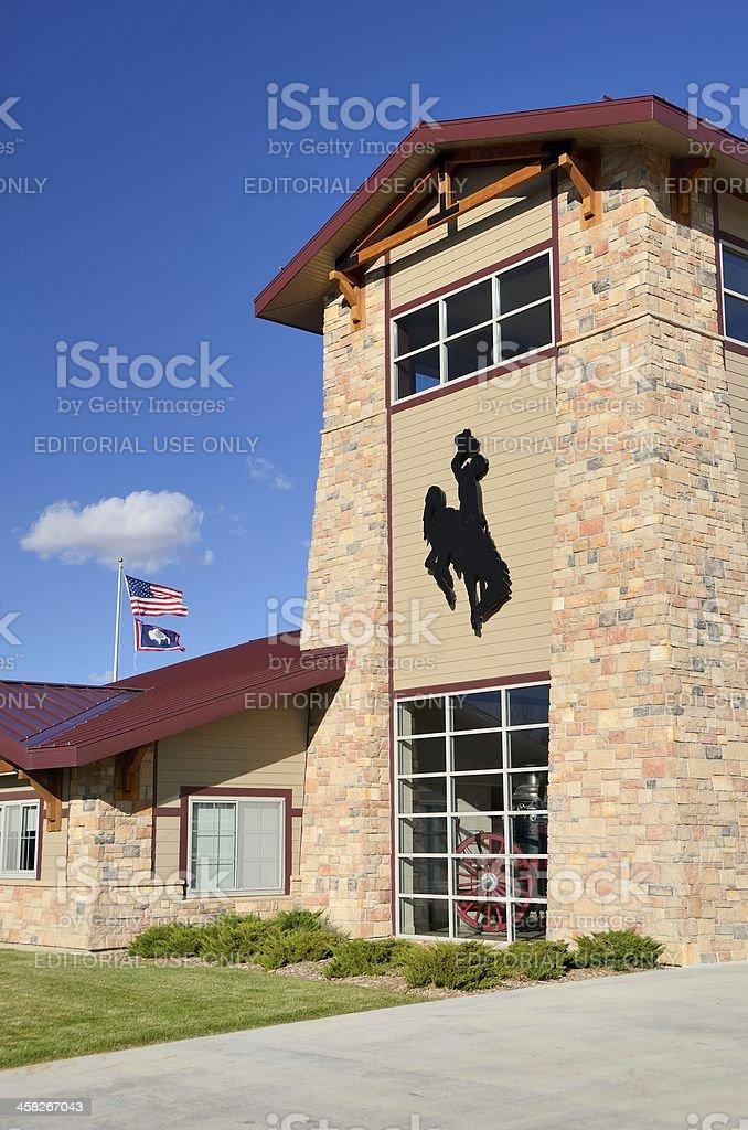 Fire Station, Laramie, Wyoming stock photo