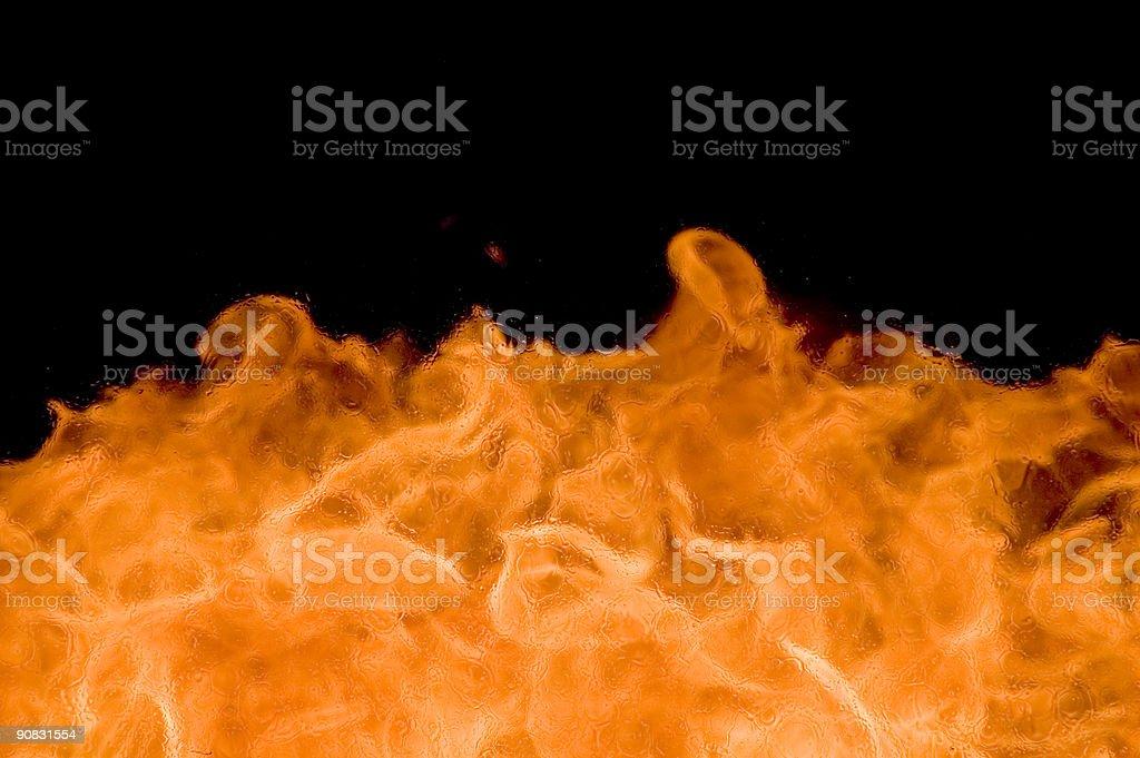 Fire through window stock photo