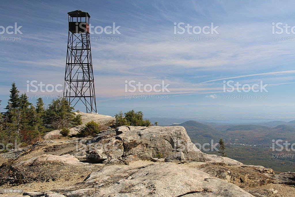 Fire Tower, Hurricane Mountain, New York stock photo