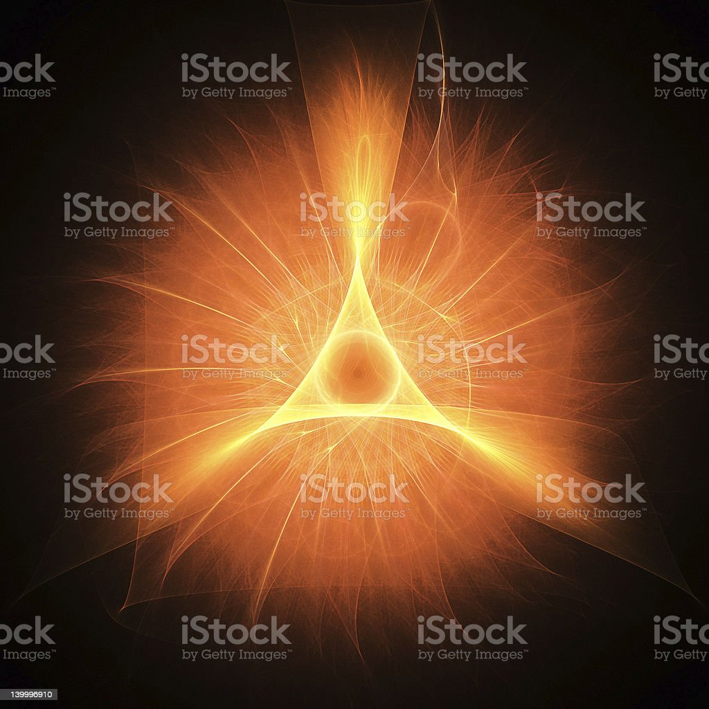 fire triangle royalty-free stock photo