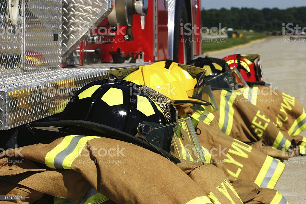 Fire Truck & Gear royalty-free stock photo