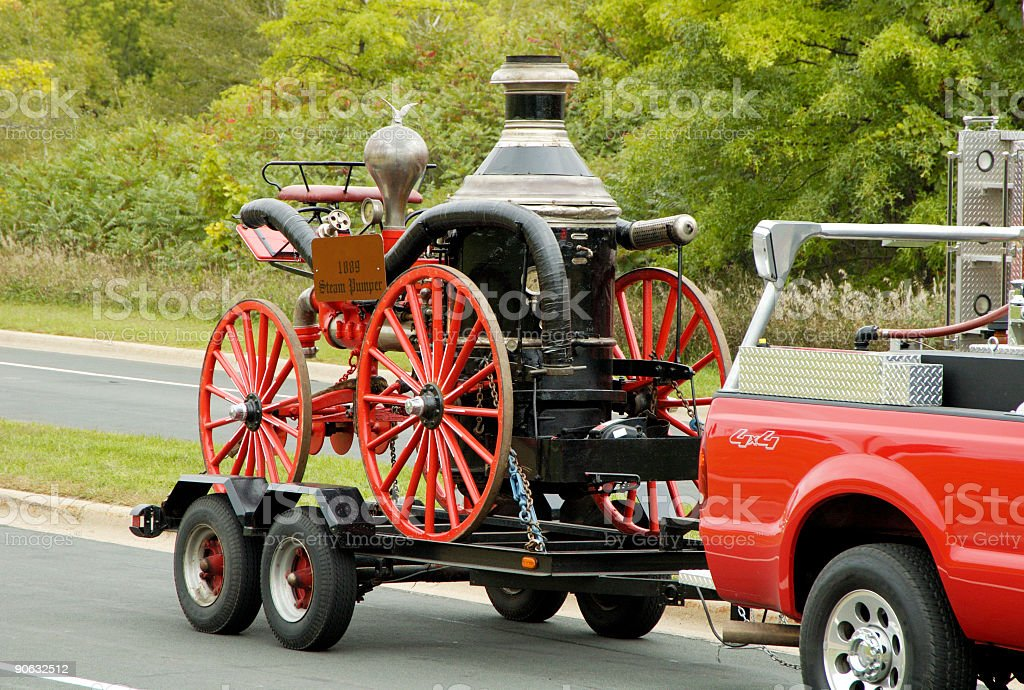 Fire Truck Parade 3 stock photo