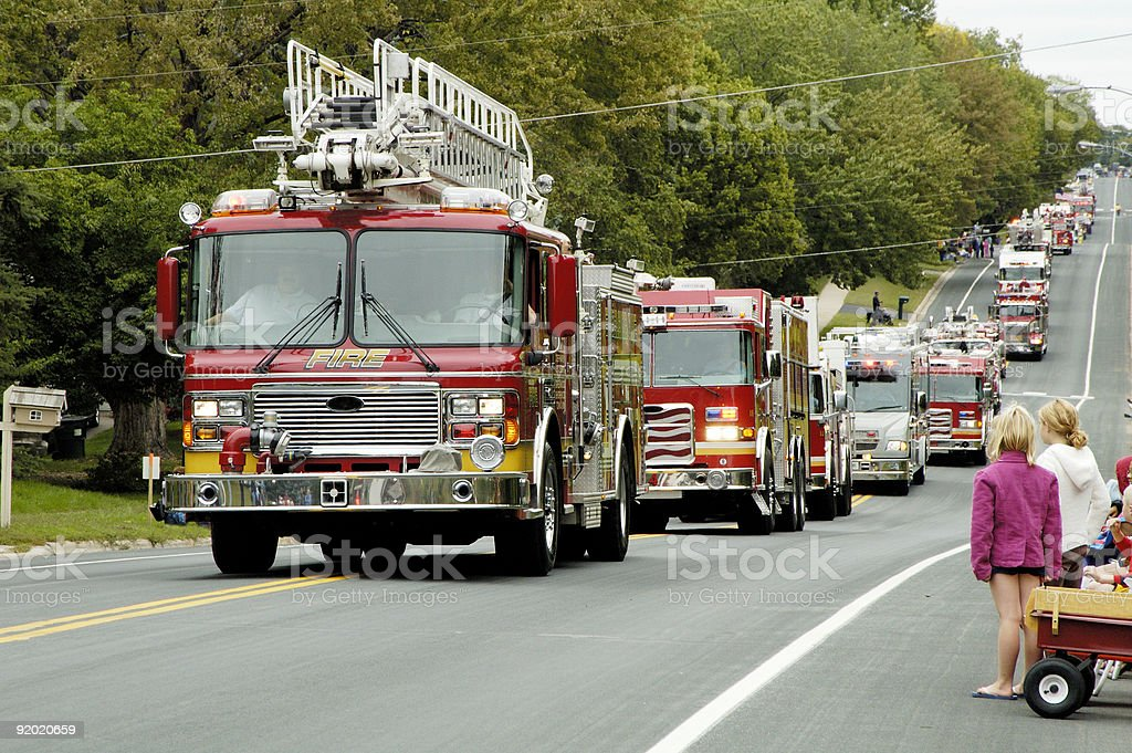 Fire Truck Parade 8 stock photo