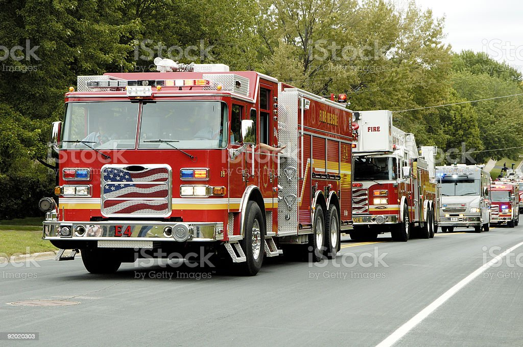 Fire Truck Parade 9 stock photo