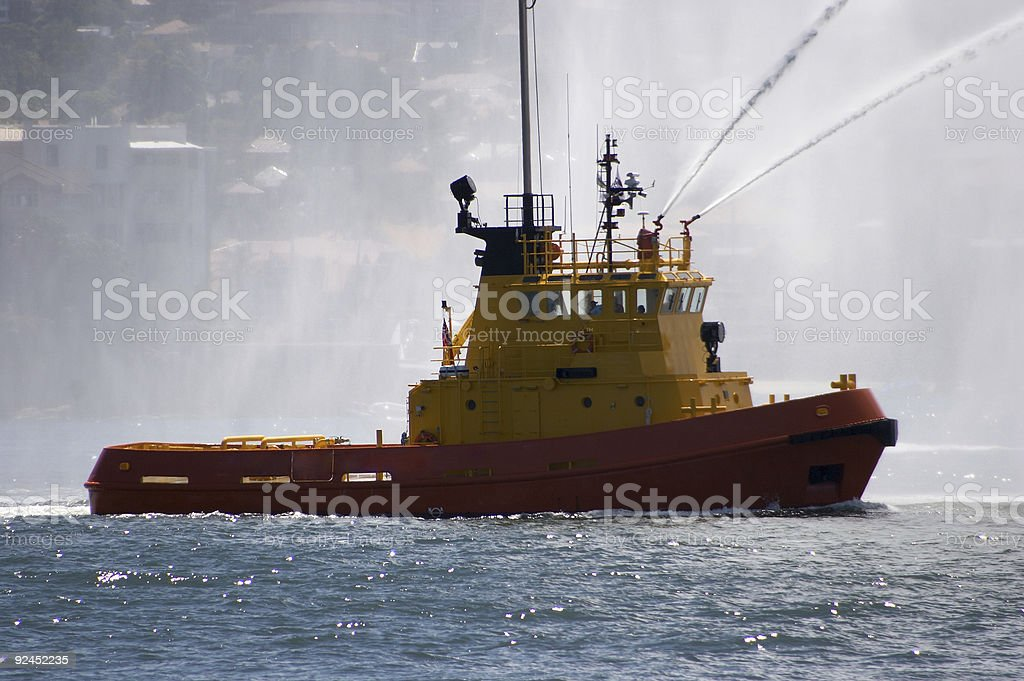 Fire Tug royalty-free stock photo