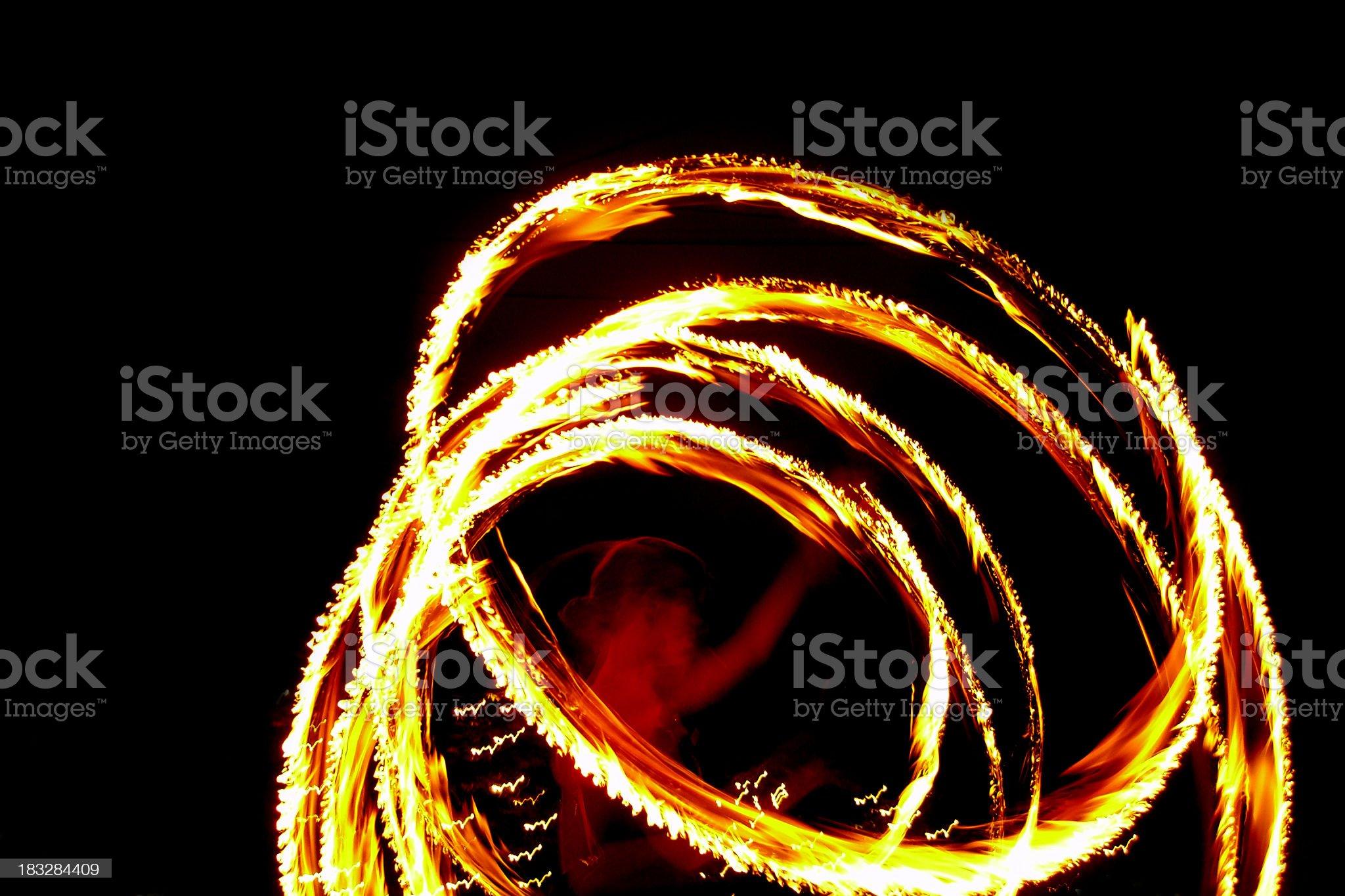 fire twirler royalty-free stock photo