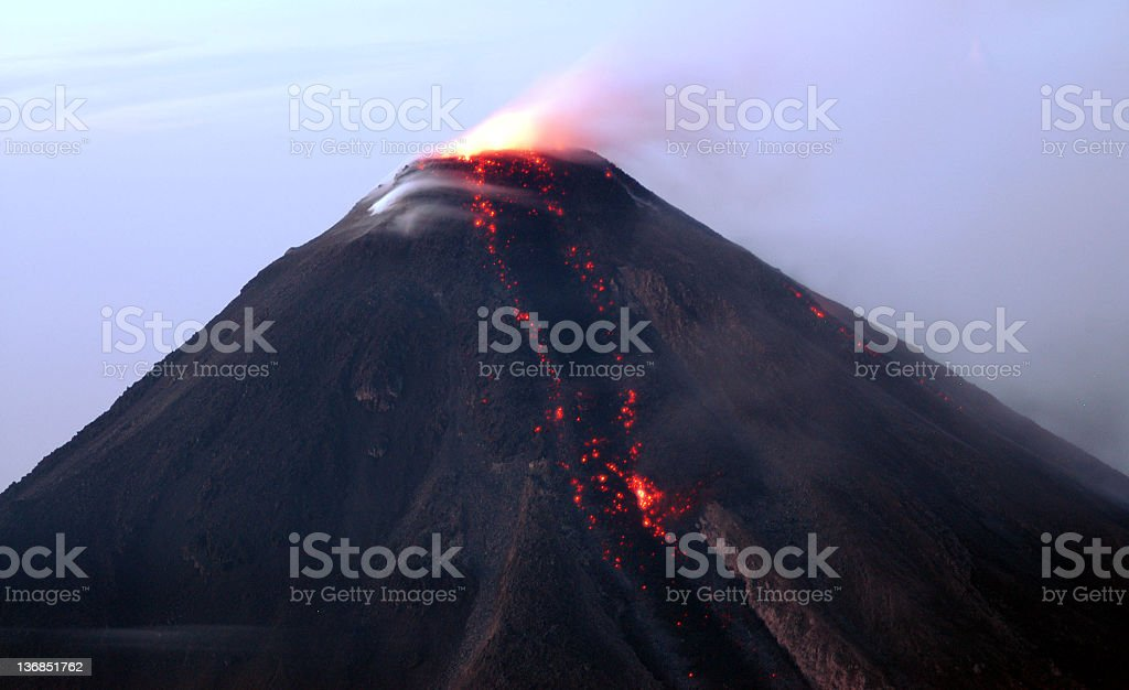 Fire, Volcano Eruption stock photo