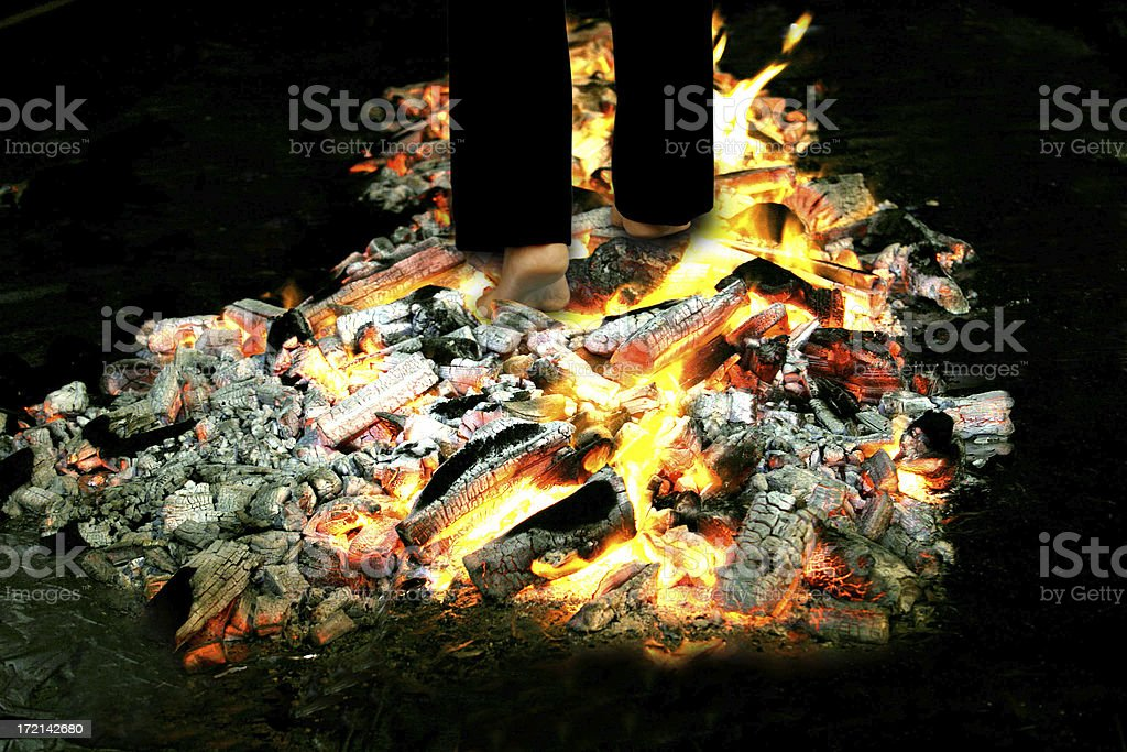 Fire Walking royalty-free stock photo