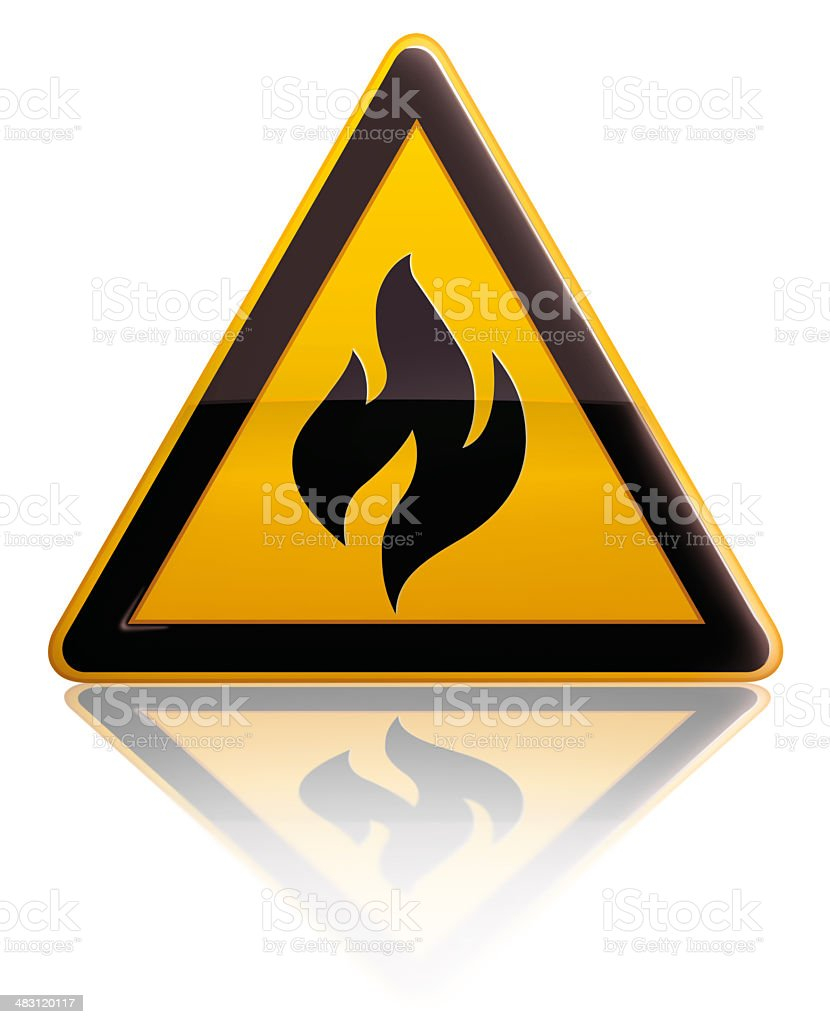 Fire Warning Sign royalty-free stock photo