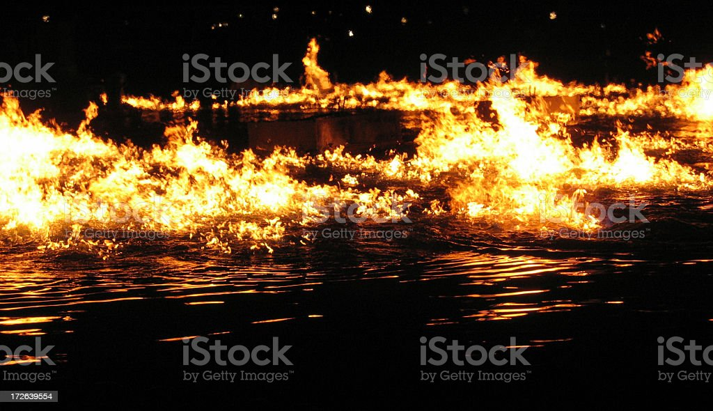 Fire Water royalty-free stock photo