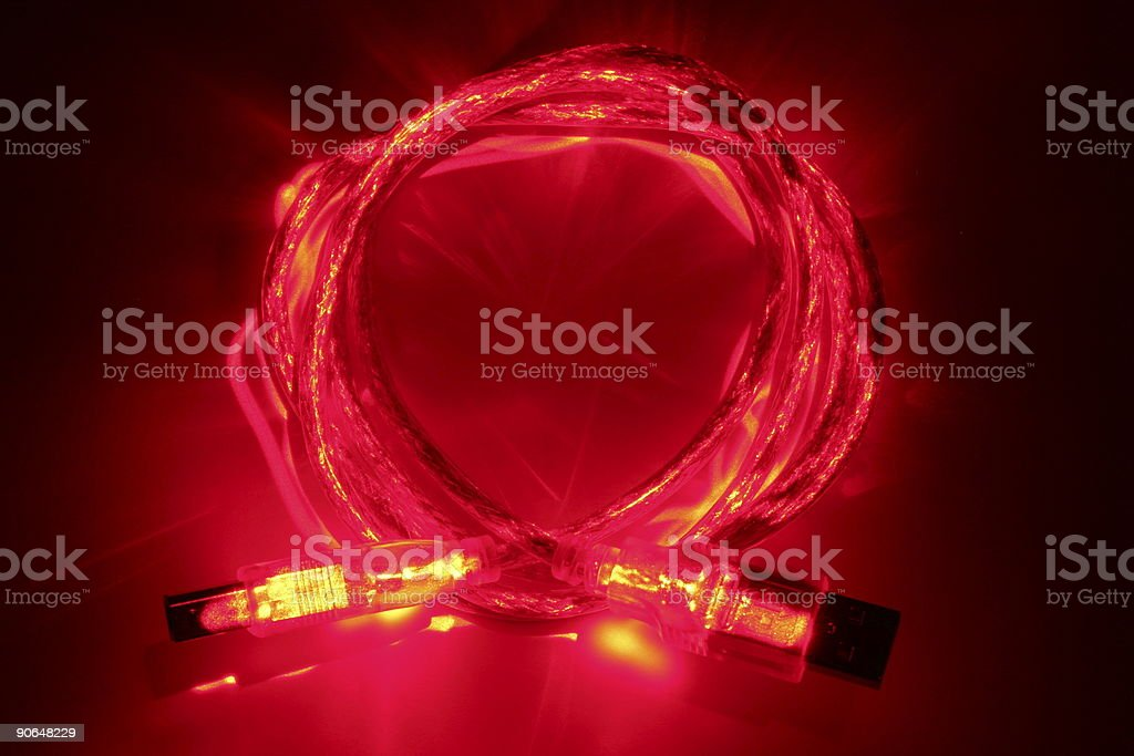 Fire Wire stock photo