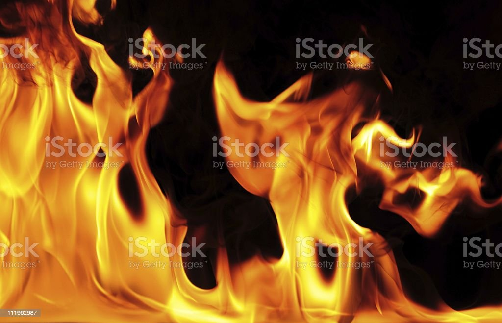 Fire with smoke royalty-free stock photo