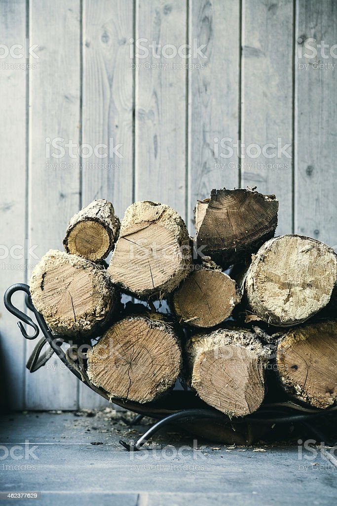 Fire wood. Home living concept stock photo