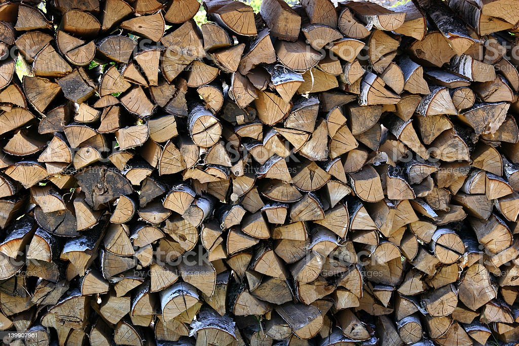 Fire wood pile royalty-free stock photo