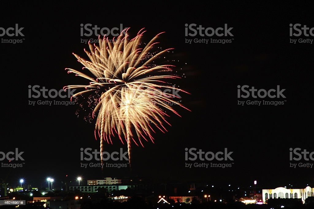 Fire work at stock photo