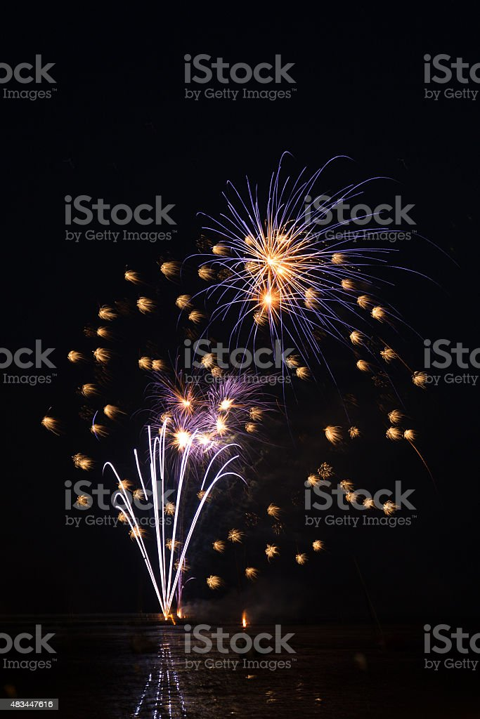 Fire work for celebrate season stock photo
