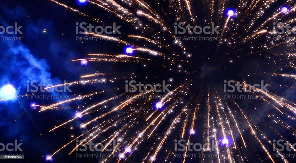 Fire Works - New Year Celebration stock photo
