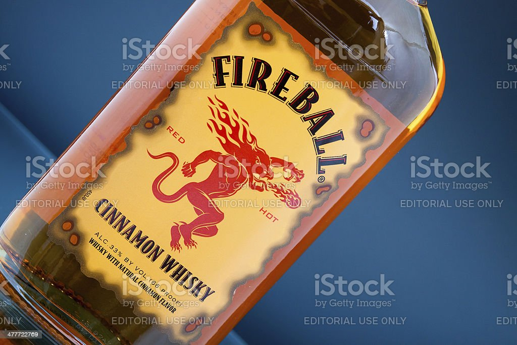 Fireball Cinnamon Whisky stock photo