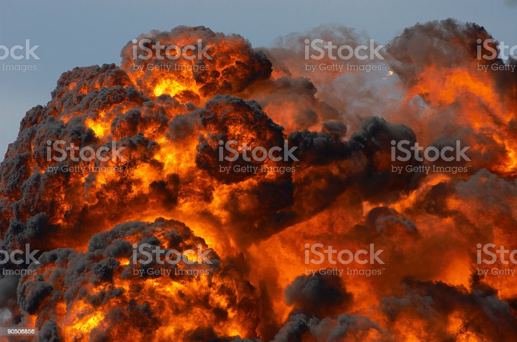 Fireball stock photo