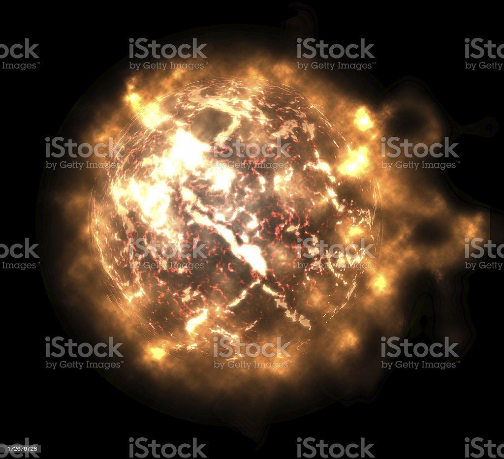 Fireball Sun stock photo