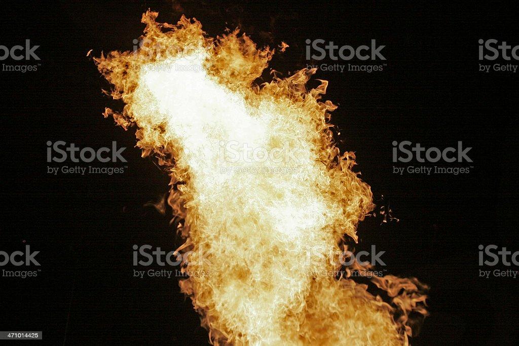 Fireball! Tornado of Fire royalty-free stock photo