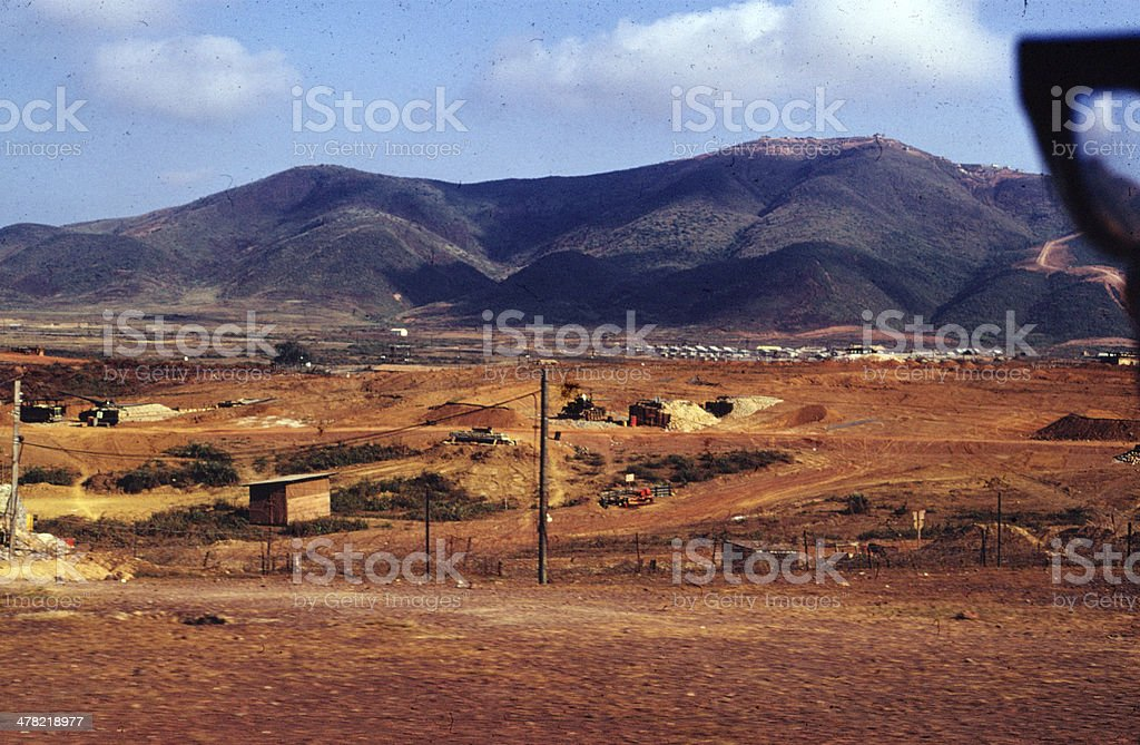 Firebase near Danang 1968 stock photo