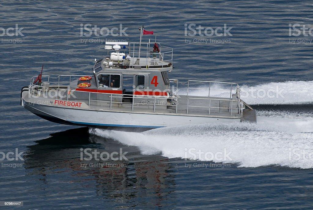 Fireboat 4 royalty-free stock photo