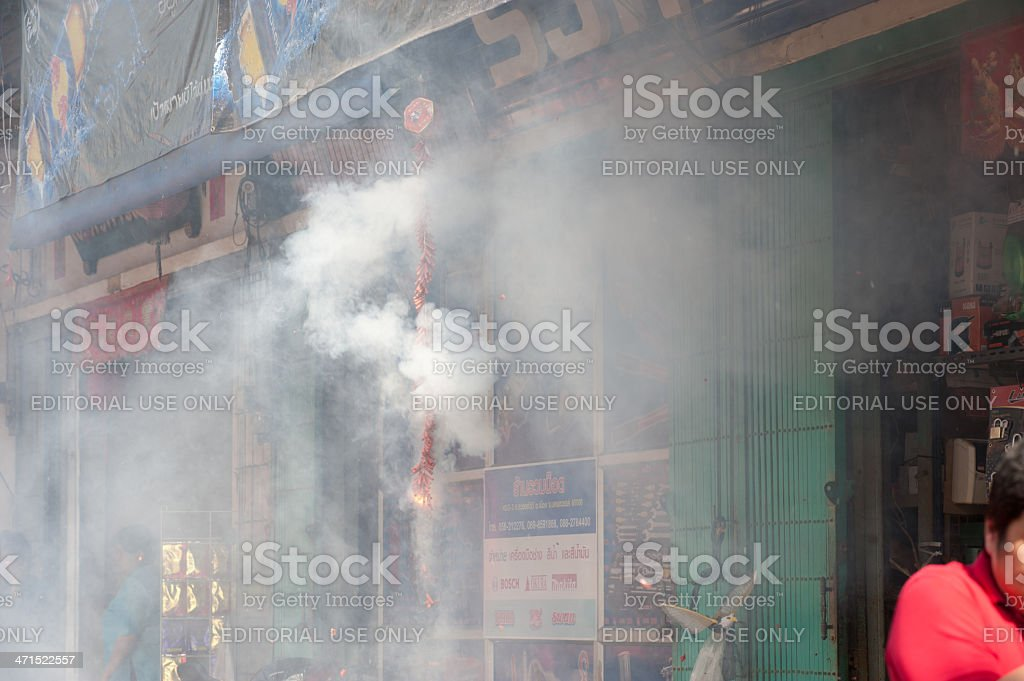 Firecracker in Chinese New year. royalty-free stock photo