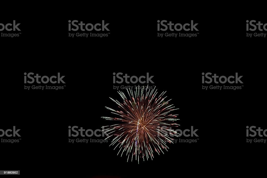 Firecrackers In The Sky royalty-free stock photo