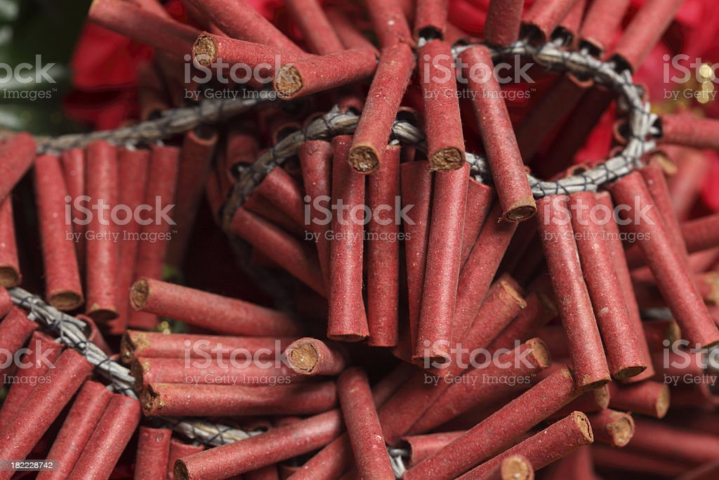 Firecrackers royalty-free stock photo