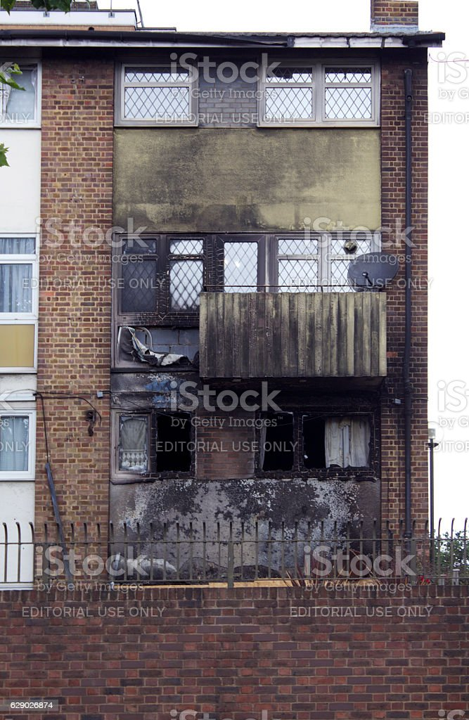 Fired Building stock photo