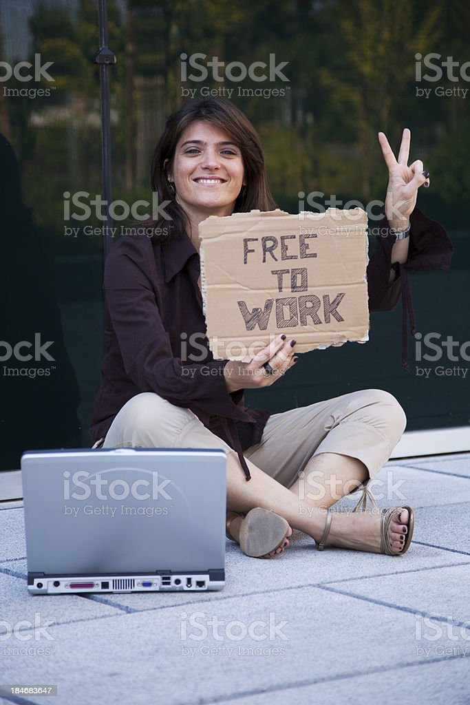 Fired businesswoman stock photo