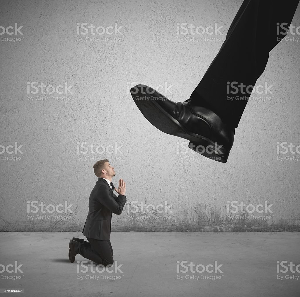 Fired by the boss royalty-free stock photo