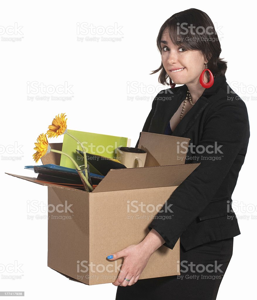 Fired Female Employee royalty-free stock photo