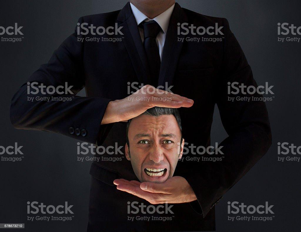 Fired Man stock photo