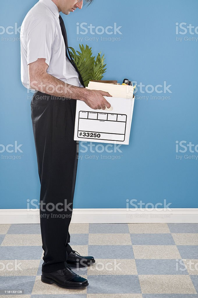 Fired Office Worker. stock photo