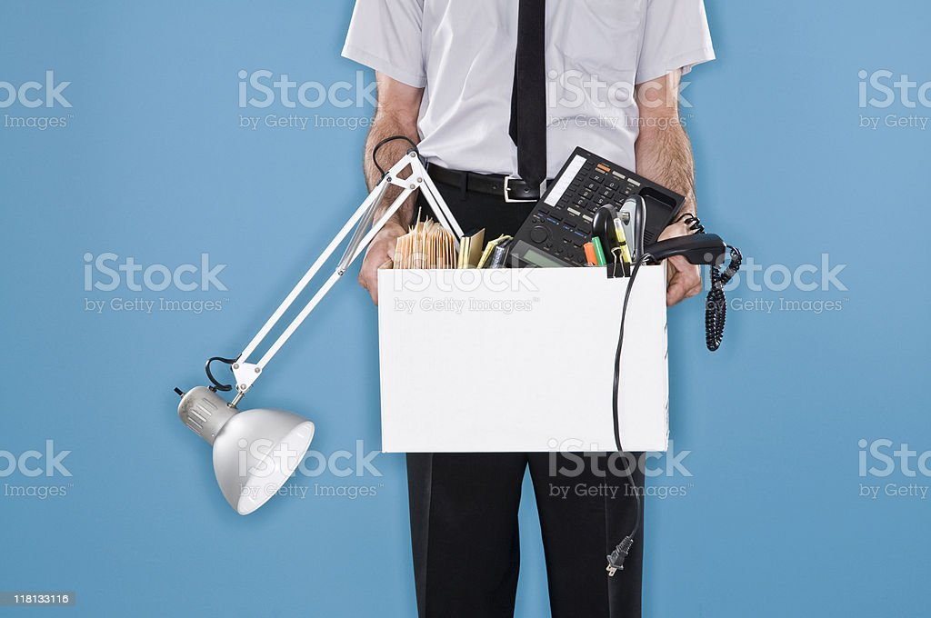 Fired Office Worker. royalty-free stock photo