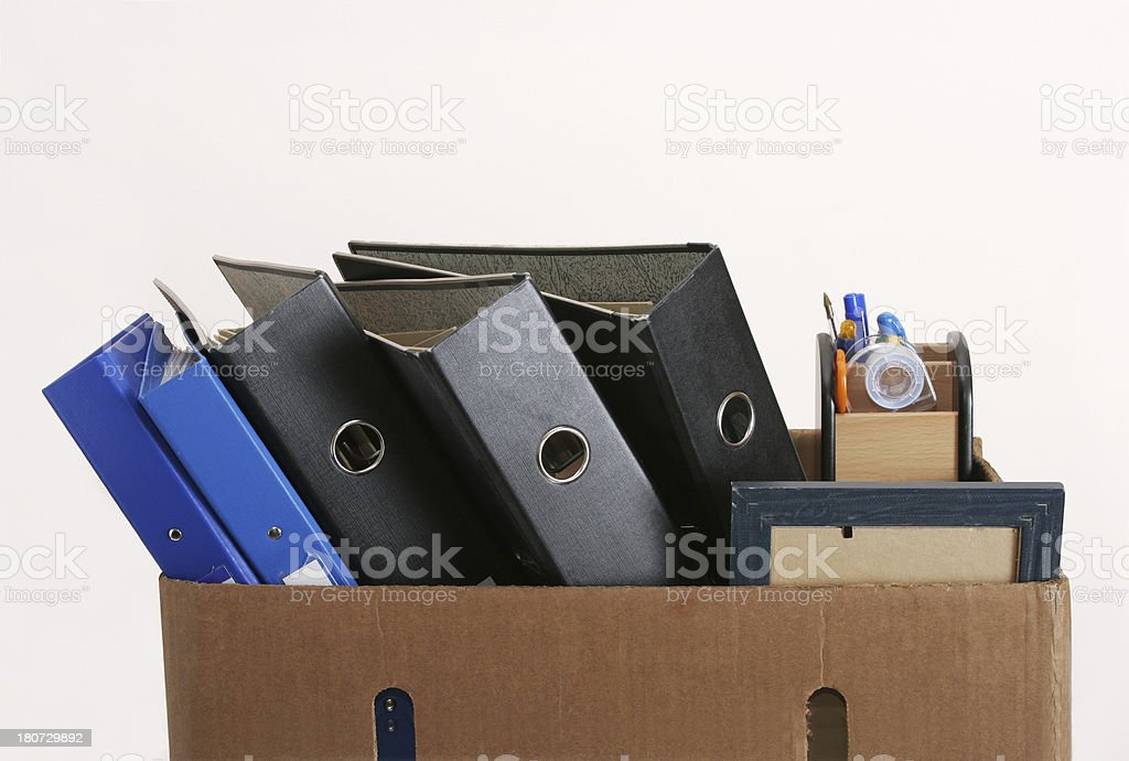 fired, packed up royalty-free stock photo