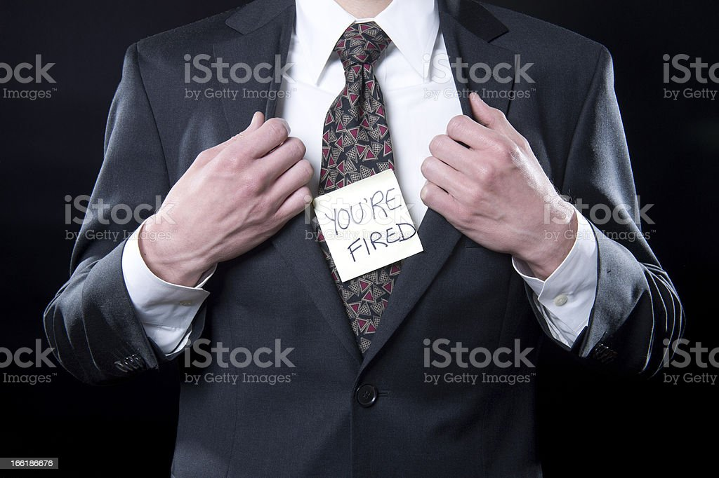 Fired! royalty-free stock photo