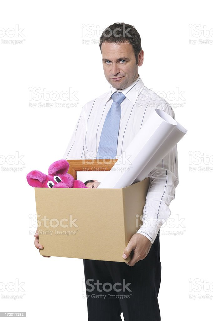 Fired! stock photo
