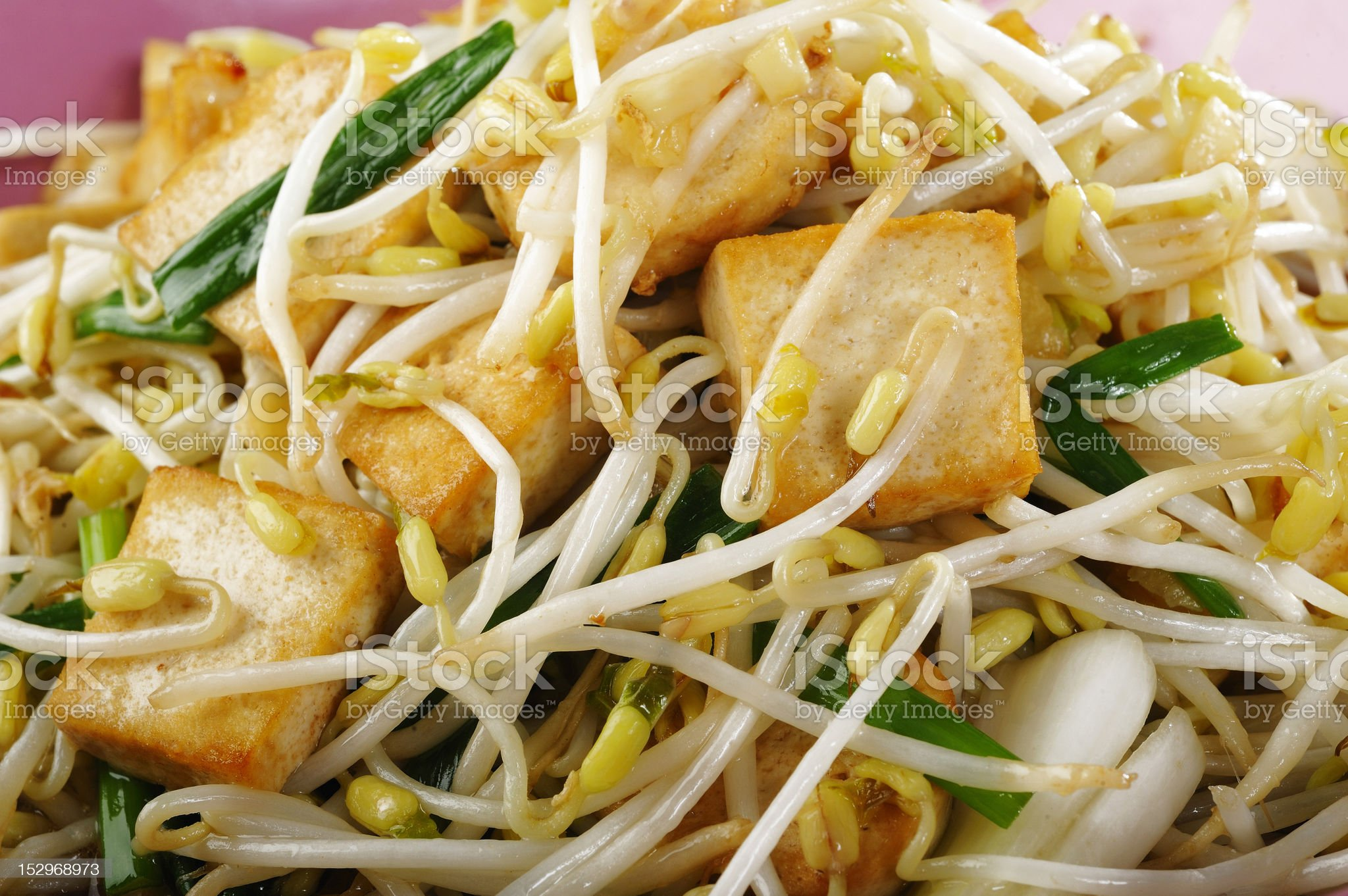 fired tofu with bean sprout royalty-free stock photo
