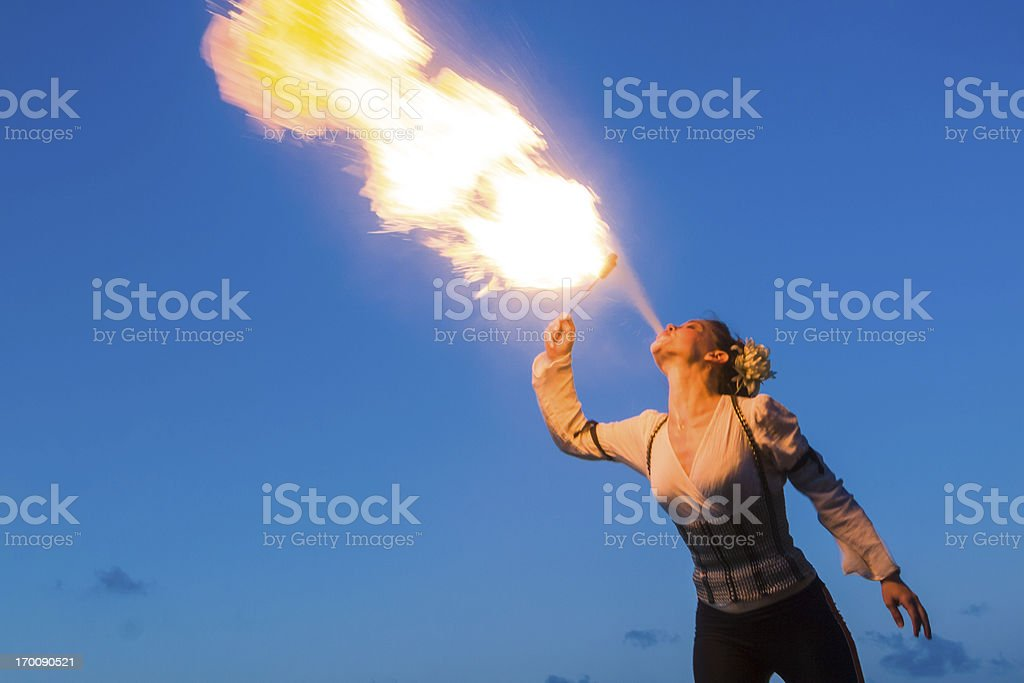 Fire-eater royalty-free stock photo