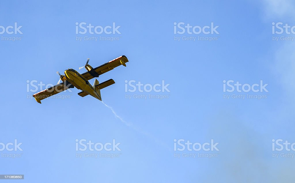 Firefighter Airplane stock photo