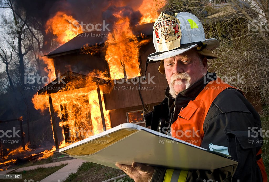 Firefighter Chief stock photo